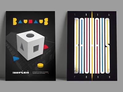 Bauhaus100 posters typography exhibition poster bauhaus100 bauhaus