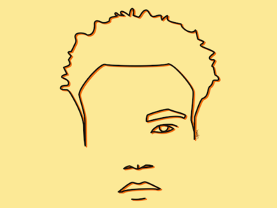 Childish Gambino donald glover drawing art line minimal design vector illustration