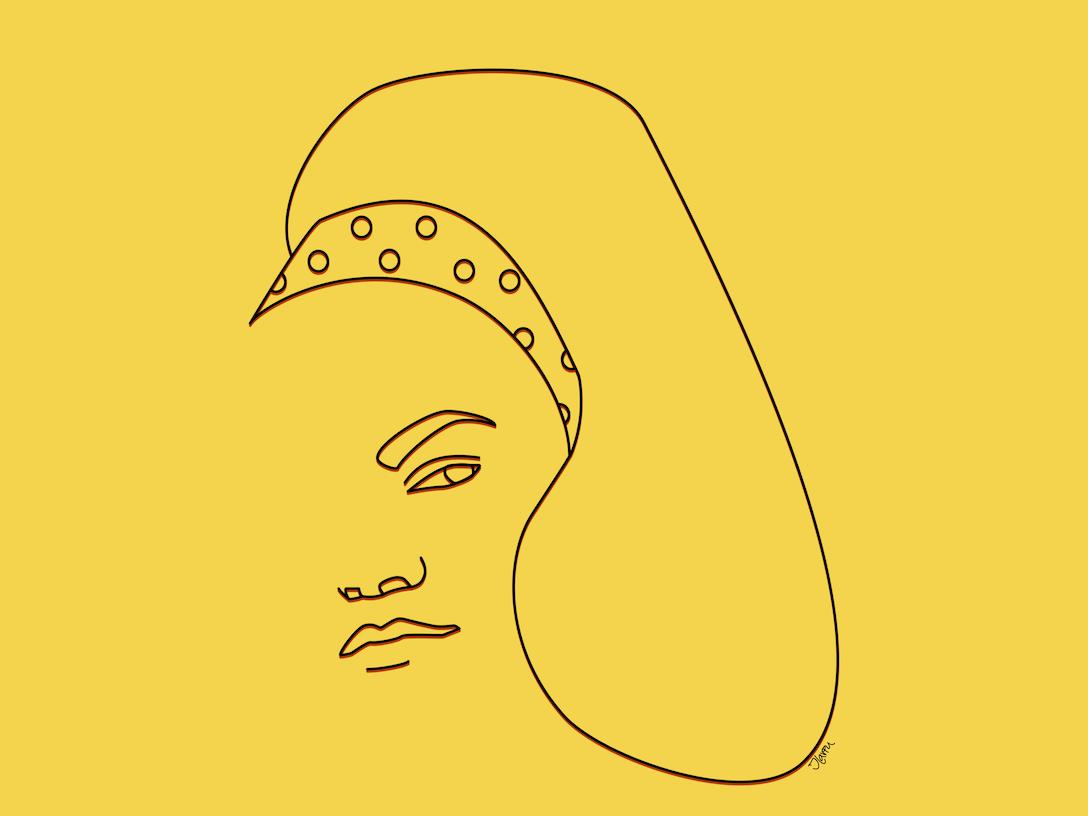 Eartha Kitt singer digital portrait minimalist line art