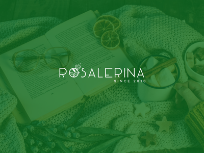 Rosalerina biology healthy lifestyle healthyfood green design logodesign logotype logo branding brand