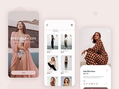 Mobile APP . Shopping shop fashion app shopping minimal uxui ux digital application app design app