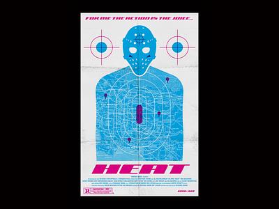 "Alternative ""Heat"" Movie Poster target heat poster movie design illustration icon"