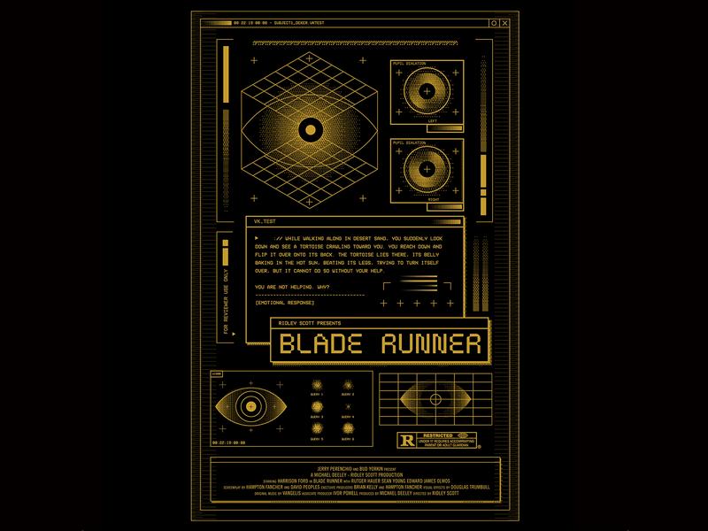 Blade Runner Alternative Poster riso movie poster movie ridley scott blade runner bladerunner poster design poster art poster illustration mark icons