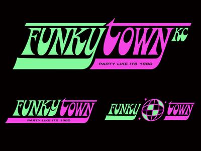 Funkytown kcmo kc 1980 nightclub bar funkytown funky type illustration mark icons branding brand logo icon