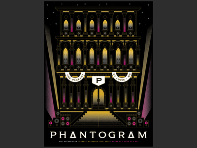 Phantogram Poster illustration music temple ceremony phantogram gig posters gig poster posters poster