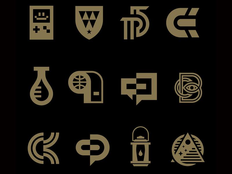 Logo Collection iconography icon vector design logos monogram badge mark icons branding brand logo