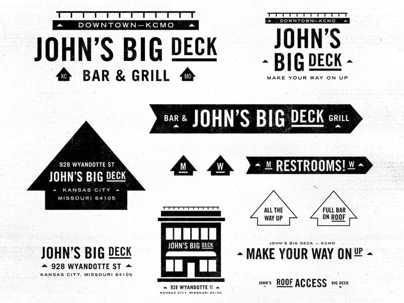 John's Big Deck arrow bar brand bar deck logos badge mark icons branding brand logo icon