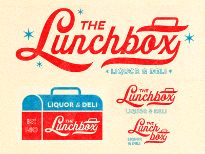 The Lunchbox script font lunchbox lunch script type badge logos illustration mark icons branding brand logo icon