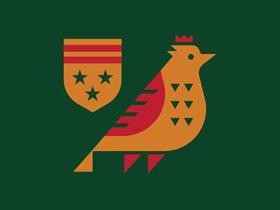 Bird Flag stars gold badge illustration mark icons branding brand logo icon