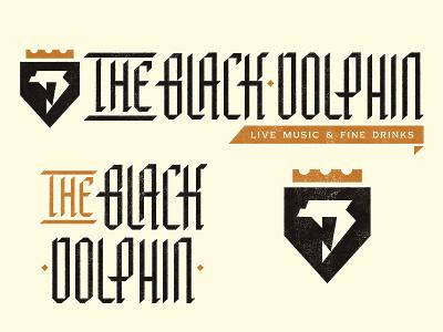 The Black Dolphin monogram type badge illustration mark icons branding brand logo icon