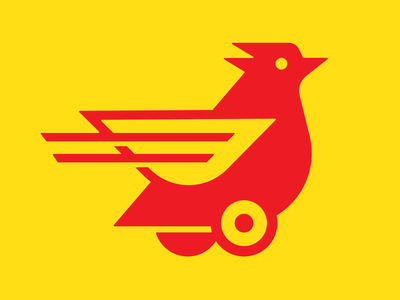 Chicken To Go! delivery truck delivery to go chicken logos badge illustration mark icons branding brand logo icon