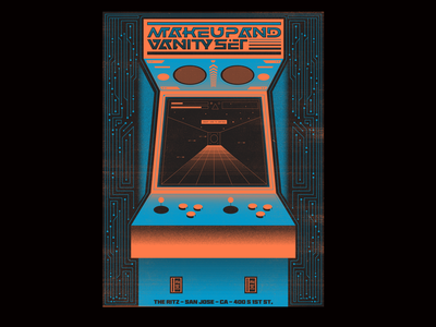 Make Up And Vanity Set Poster posters poster gig poster circuits circuit arcade game arcade game illustration