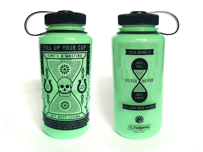 Times A Wastin' Nalgene skull naglene time water branding brand