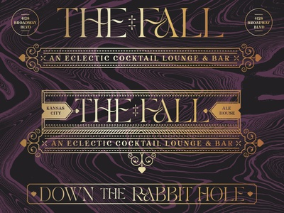 The Fall kansas city down the rabbit hole fall badge icons branding brand logo icon