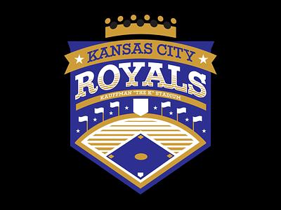 The K baseball the k kc royals badge mark illustration branding brand logo
