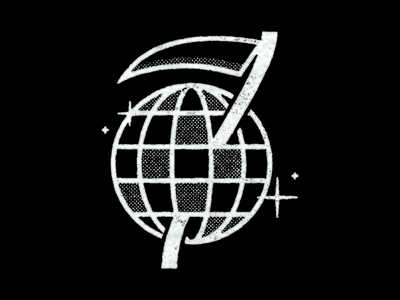 Death Before Disco scythe death disco mark illustration branding brand logo icon