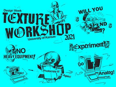 Collage Texture Workshop Elements illustration icons branding brand logo icon