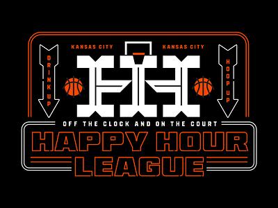 Happy Hour League league happy hour basketball type mark brand logo icon