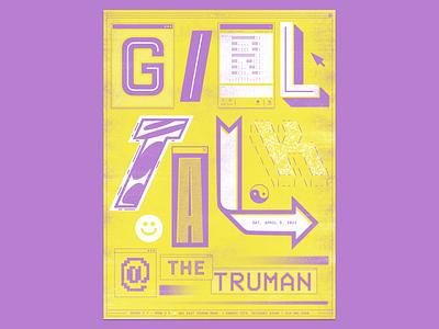 Girl Talk Gig Poster internet concert gig poster dj girl talk online poster illustration