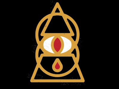 See All, Know All logo dark black magic geometric seal pyramid all seeing eye