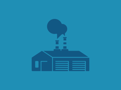 Mini Factory Pt. 2 miniature illustration identity symbol smokestack industrial factory icon brand logo