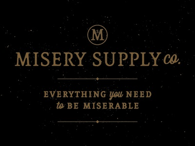 Misery Supply Co. miserable suppy misery branding icon typography brand mark logo