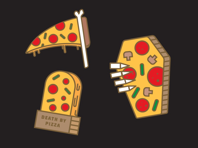 Death by Pizza Pin Ideas pizza death death by pizza headstone grave scythe coffin death pizza icon logo