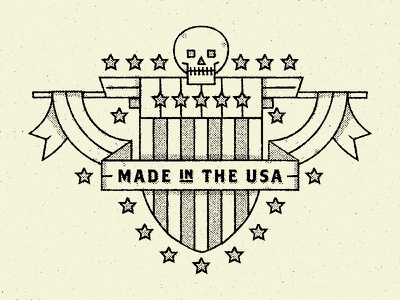 Made in the USA Stamp icons america skull usa badge icon logo