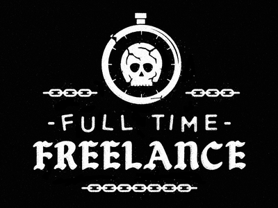 Off One Clock, Onto Another chains icons chain freelance branding brand skull icon logo