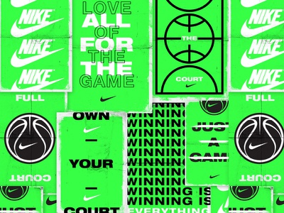 Nike Basketball Poster Concepts swoosh typography type posters poster neon green basketball nike icon logo