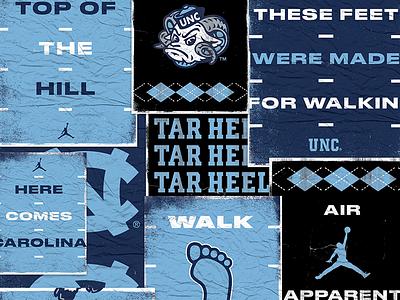 NC Gameday Posters football heels tar heels north carolina nc mural posters gamed