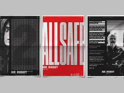 Mr Robot Season 1 Posters exploit computer hacking hack mr. robot robot typograhpy poster