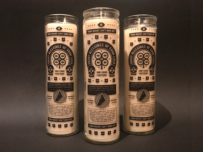 Good Luck Candles gift luck eye skull branding brand icon candle
