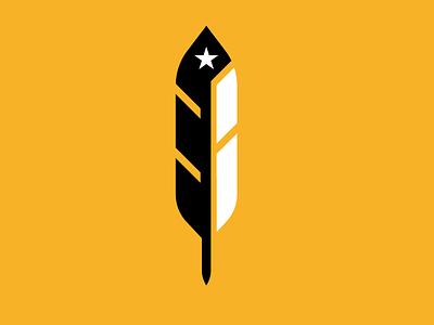 Feather Mark Exploration sports ravens raven military logos branding brand bird logo feather