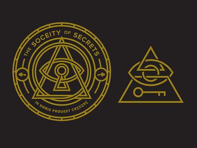 Not So Secret Outtakes seal eye pyramid secret society secret logos badges mark brand logo