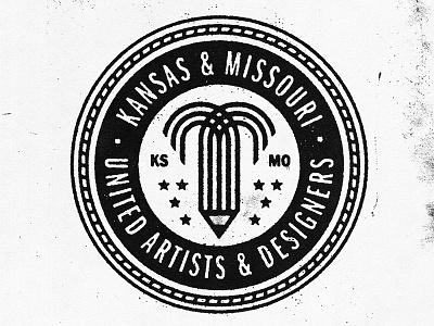 KCMO Artists/Designers Union kcmo missouri kansas unions badges badge union icon logo