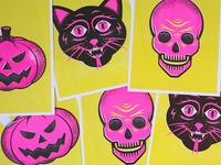 Halloween Risographs