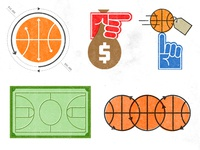 Basketball Money Icons