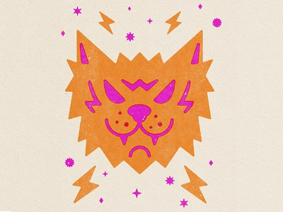 Electro Cat energy branding brand logo cats design icons neon icon electrocat electro cat illustration