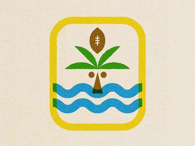 Football Passport Stamp badge passport stamp palm football design illustration icons logo icon