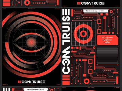 Com Truise Posters circuit design illustration poster a day com truise electronic music poster