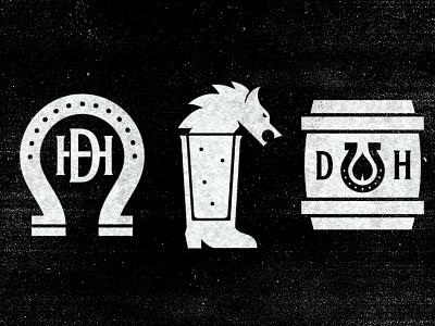 Dark Horse Tavern Pt. 2 horseshoe tavern bar horse monogram badge mark icons branding brand logo icon