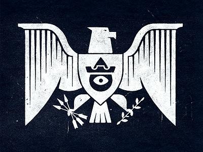 Eagle Mark logos seal eye mark illustration shields shield heraldry eagles eagle badge icons branding brand logo icon