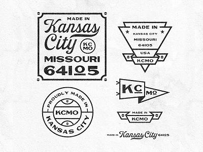 KCMO Badges lockup kansas city kcmo kc monogram logos badge illustration mark icons branding logo brand icon