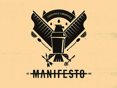 Manifesto Eagle bird key shaker cocktail eagle seal badges logos badge illustration mark icons branding brand logo icon