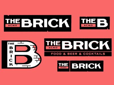 The Brick kc dive bar bar the brick brick badge illustration mark icons branding brand logo icon