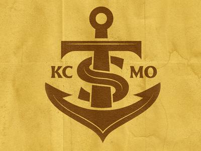 The Ship ships wheel monogram bar ship anchor badge illustration mark icons branding brand logo icon
