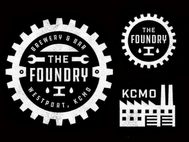 The Foundry kansas city kc brewery logo brewery bar badge illustration mark icons branding brand logo icon