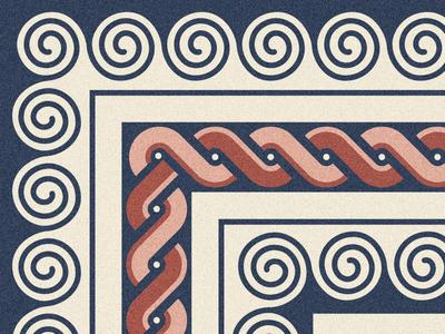 Roman floor crop vector illustration vector frame swirl geometric pattern art pattern design news mosaic roman pattern poster artwork illustration
