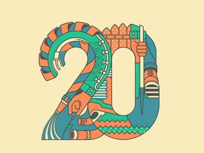 20 years of agriculture vector illustration tools agriculture dribbble editorial conceptual lineart logodesign logo design poster artwork illustration